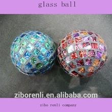 navidad decoración hecha a mano color mosaico bola de cristal