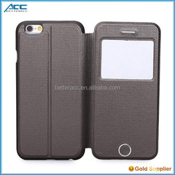 Mobile phone case cover with a window for apple iphone 6 plus protective