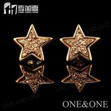 Fashion Earring Designs New Model Earrings Natural Druzy Drusy Agate Stud Earrings 24k Gold Jewelry