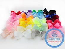 """new fashion baby girls 4.5"""" ribbon hair bow clips hair clips for kids"""
