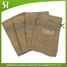 ustom Drawstring Promotional Burlap sacks with custom printing From china Factory