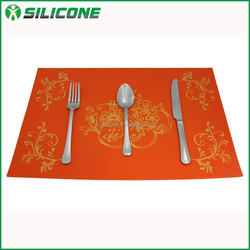New products custom silicone placemat resuable dinner placemat