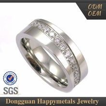 Newest Model Stainless Steel Custom Logo Silver Ring Designs Women 2012