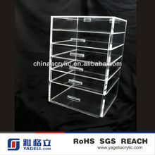 Hot Sale 6-layer Practical Acrylic Case Drawers/Crystal Clear Acrylic Drawer Case