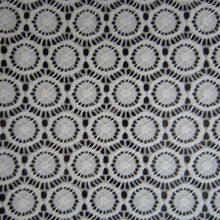 white simple and graceful jacquard lace fabric, china supplier, circle design