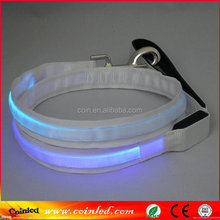 8 Light Colors LED Flashing Light Dog Pet Rope Belt Harness Safety Glow Wholesale Nylon retractable dog leash