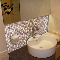 MB SMS08 Interior Mixed Mosaic Backsplash Wall Tile Stone Mix Glass Mosaic Kitchen Sink