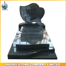 Haobo Line Carving Blue Cheap Cemetery Granite Monuments Headstones for Graves