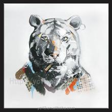 cool tiger handmade modern oil painting