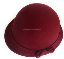 Vintage Men Women Fedora Dome Hat Roll Brim Bowler Derby Hat