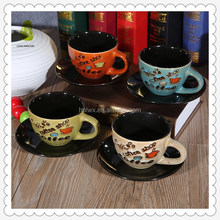Promotional items reactive glazed espresso coffee cup set