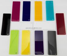 colored acrylic/pmma/plexiglass sheet panel for led light box