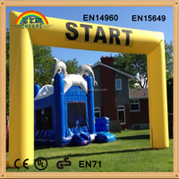 Yellow Rectangular inflatable arch, cheap inflatable arch, finish line arch