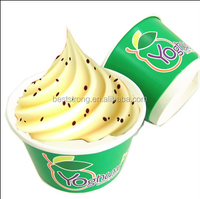 Custom Printed Frozen Yogurt , Ice Cream Paper Cup, Paper Bowls