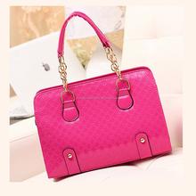 OEM handbag factory fashion PU shoulder bag china supplier ladies tote bag