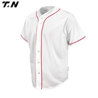 Cheap blank plain baseball jersey white