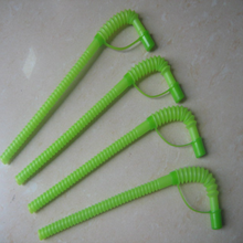 shock resistance plastic straw /green color plastic straw