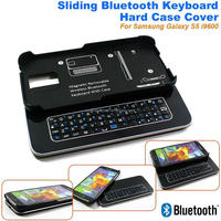 New Sliding Mini Wireless Bluetooth Keyboard for Samsung Galaxy S5 i9600 Bluetooth Keyboard Hard Case Cover