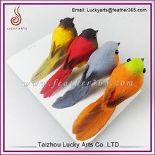 Four colour feather and cotton birds