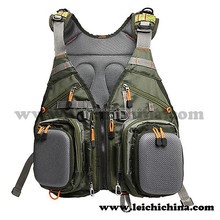 Camo fishing vest for fly fisherman