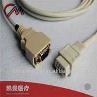 Nihon Konden spo2 sensor extension cable ,20 pin to NK 9 pin Female ribbon cable