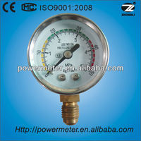 (Y-40A)40mm chromeplated case bourdon tube pressure gauges wika