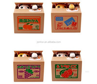 creative novelty pvc coin bank Cartoon cat stealing coin box new designed creative pvc coin bank