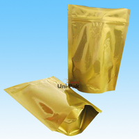customized BPA free food safety gold foil packaging bag for food