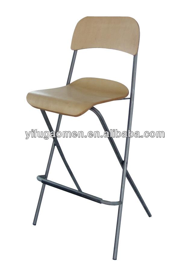 Chaise haute bar tabouret pliant bois m tal chaise 11036 lots de meubles en m - Tabouret pliant de bar ...