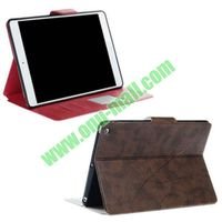 Crazy Horse Blank Pressing Leather Case for iPad 5