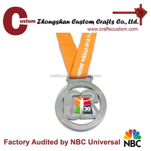 free design high quality low price race metal medal