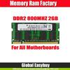 ETT chips 128mbx8 2gb ddr2 ram memory notebook