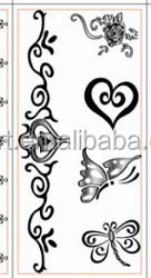 black tattoo sticker,tattoo art design jewelry for skin decoration with different design