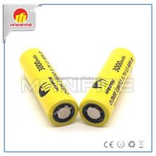 40A Mainifire IMR18650 3000mAh yellow high drain 18650 mod battery from Mainifire factory