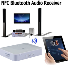 NFC-Enabled Wireless Bluetooth Audio Music Receiver Adapter for Home Stereo Sound System and Most Speakers