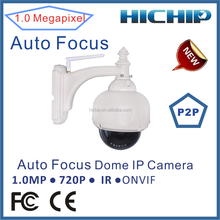 Hichip 720P HD Outdoor Dome P2P Wifi IP Camera with 2.8-12mm varifocal lens