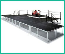 Outdoor Aluminum plywood modular used portable stage for sale