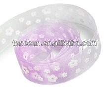 China Hot Lt. Orchid Smelling Decoration Flower Bow Ribbon For Lovely Angle Girl Wholesale