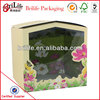 High Quality Fashion Custom Magnetic packaging box with clear pvc window