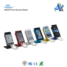 security display stand secured alarm stand for cell phone/mobile phone/smart phone security and experience displays A31