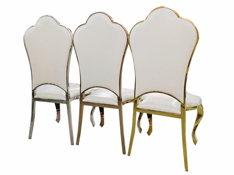 Новый дизайн роскошный золотой свадьбы нержавеющей стали стул для продажи