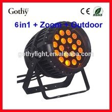 CE ROHS 18x10w 4in Zoom Waterproof Par IP65 Led Lights