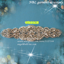 pearl beaded applique patch WDD0152