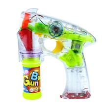 2015 flashing bubble water gun toy with music and light