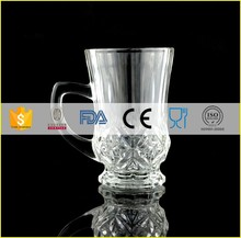 High clear glass espresso latte cups and latte glass mugs