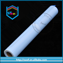 large format adhesive clear transparent polyester pet film for inkjet printing
