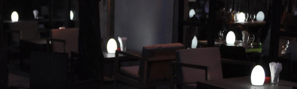 Led outdoor lamp bluetooth mood light hotel deco