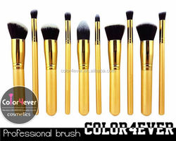 Cosmetics and makeup factory 12 pcs wood handle private label makeup brush