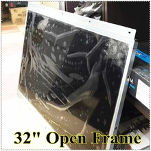 32inch Open Frame Led Monitor Advertise player Game Monitor panel Wall Mount Digital Photo Lcd with Tempered Glass