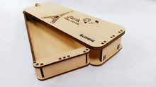 custom many shape high-grade popular kids wooden pencil box,prize pencil case